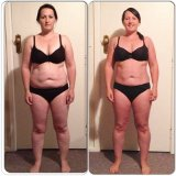 Kelly before and after fat loss diet